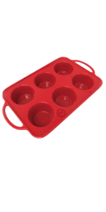 6 cup muffin pan, muffin pan large, jumbo muffin pan, nonstick cupcake tin, muffin tin large