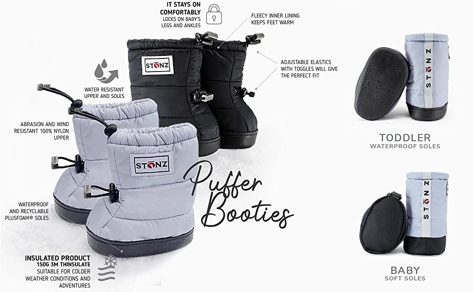 Stonz Winter Puffer Booties Baby/Infant