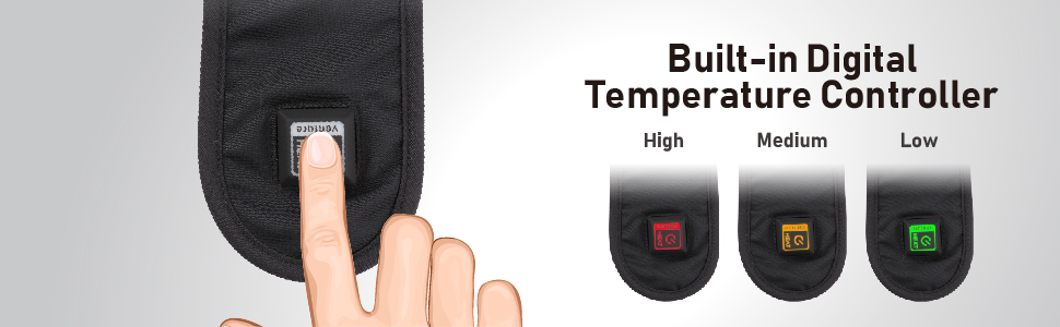 MOTORCYCLE DELUXE JACKET LINER VENTURE HEAT HEATED BUTTON LEVELS HIGH MEDIUM LOW CONTROL REMOTE