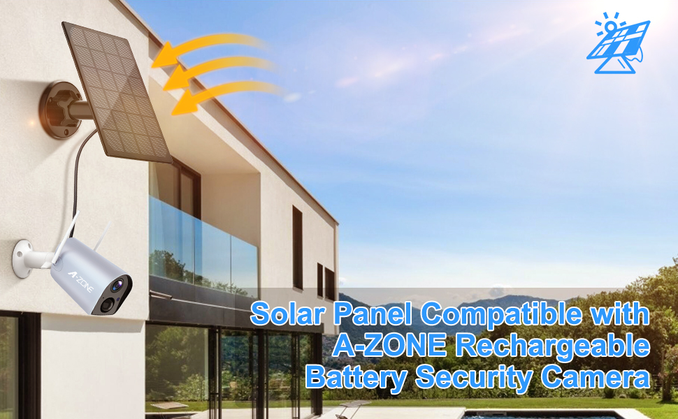 Solar Panel Rechargeable Battery Security Camera