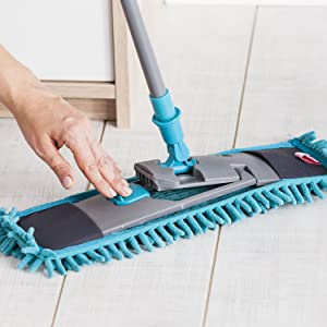 flat mop salsa with microfibre head for dry and wet cleaning