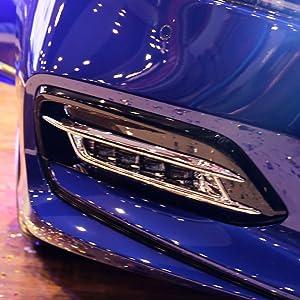 Rqing For Honda 10th New Accord 2018 2019 Chrome Fog Light Cover Trims (Front Fog Light Trim)