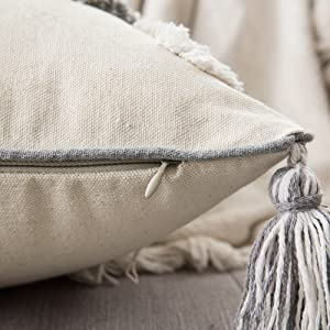 pillow cases rectangle pillows cover with tassels invisible zipper best quality workmanship