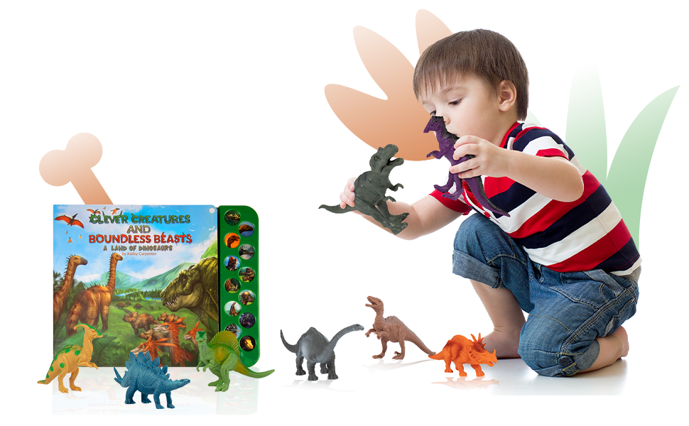 Dinosaur Figures with Illustrated Sound Book