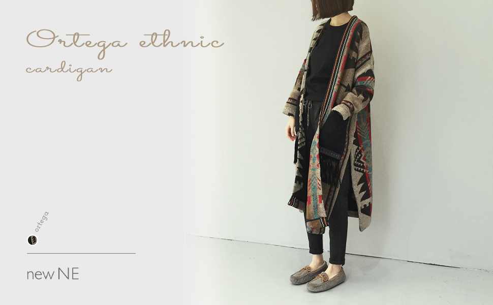 Ethnic print long coat with ethnic style.