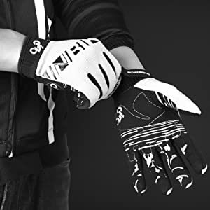 white cycling gloves