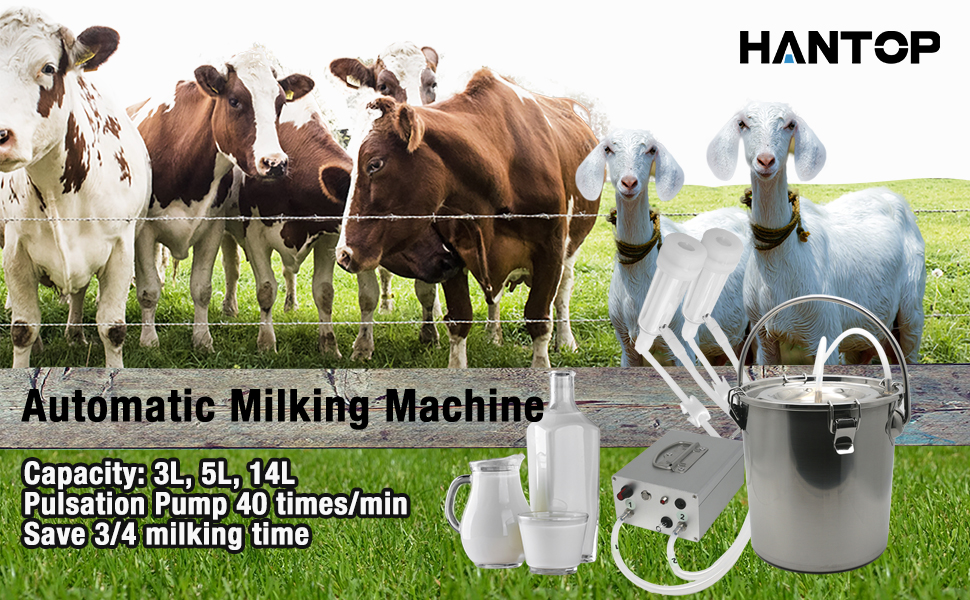 hantop milking machine for goat cow