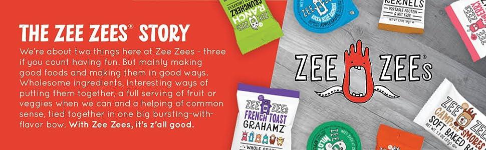 zee zees, better for you, snacks, family, kids