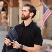 our new mens active polo can be worn to enjoy any activity! from the office to the golf course