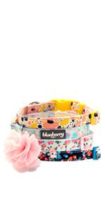 cotton flower dog collar