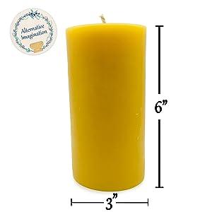 Large Beeswax Candle Pillar