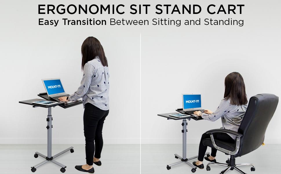 Ergonomic Sit Stand Cart