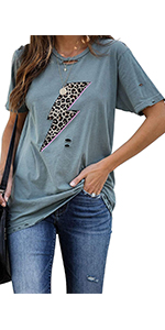 Basic Graphic Tees for women summe tops for women