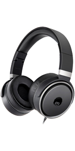 black headphones, folding headphones