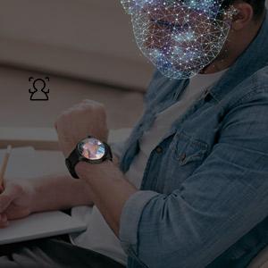 4G smart watch supports face unlock