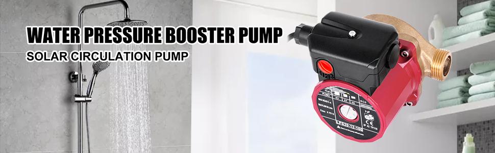 VEVOR Bomba Booster silenciosa Bomba de Agua Booster dom/éstico con Flujo m/áximo 50 L//min Altura 6 m Carcasa de la Bomba de Hierro Fundido Cabezal