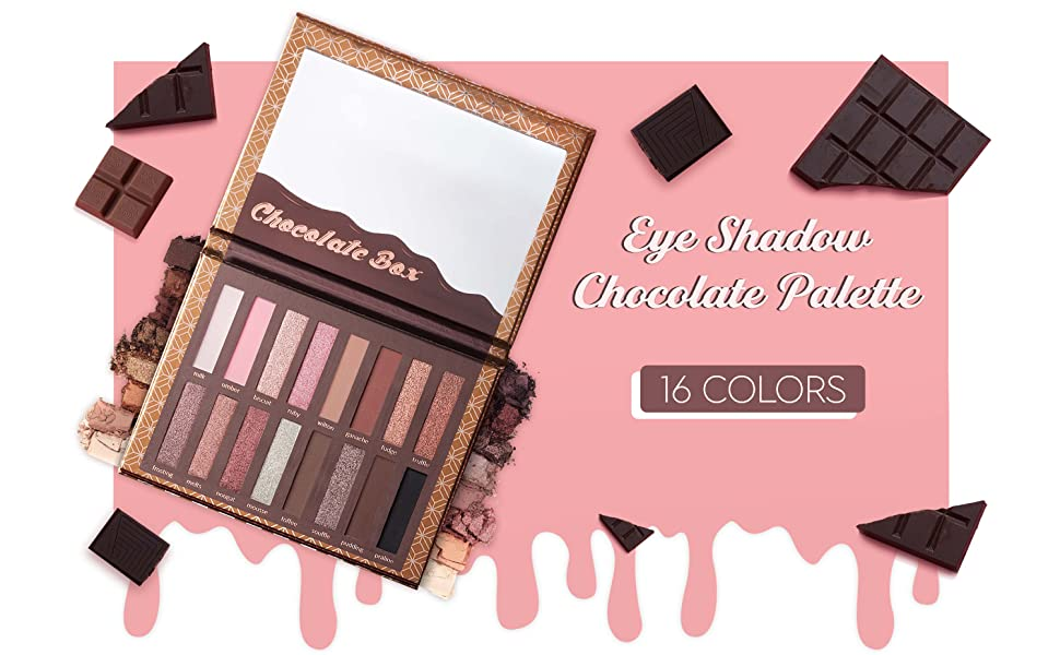 Eyeshadow palette, chocolate eyeshadow, matte eyeshadow, shimmer eyeshadow