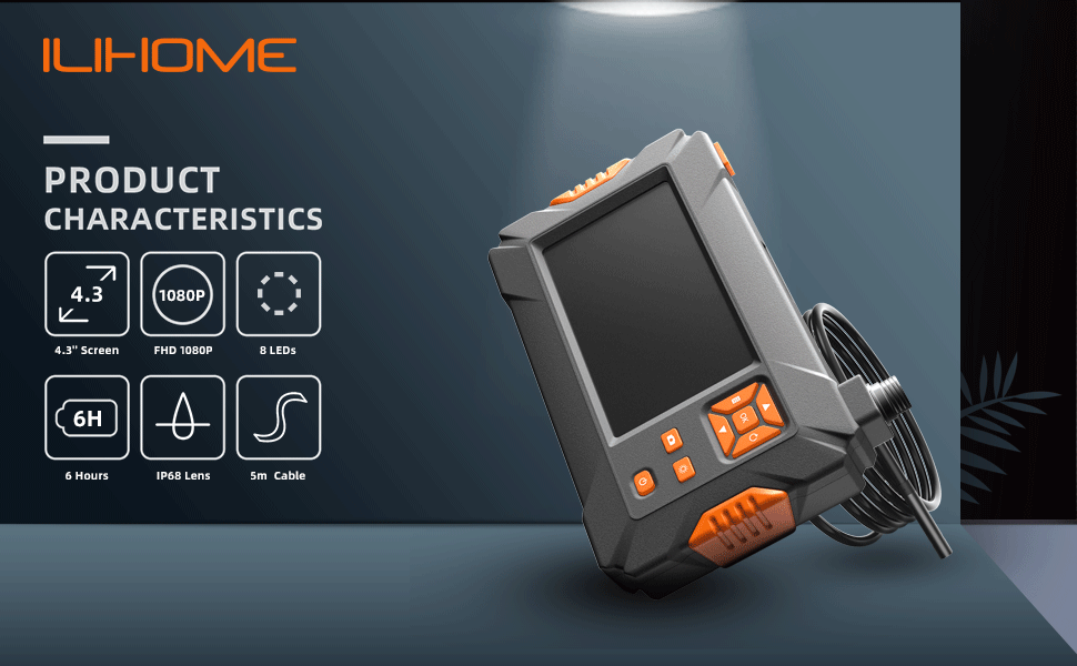 ILIHOME Endoskopkamera Mit Bildschirm