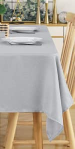 Deconovo Decorative Solid Tablecloth Wrinkle Resistant and Waterproof Tablecloths for Kitchen