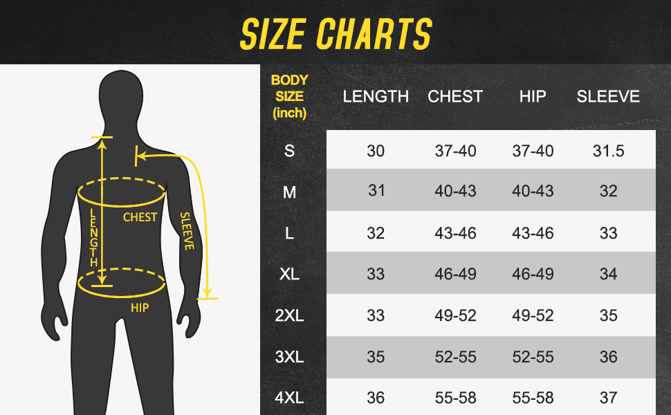 Ptahdus FR shirt size chart