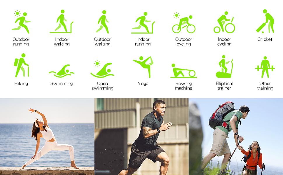 14 sport modes