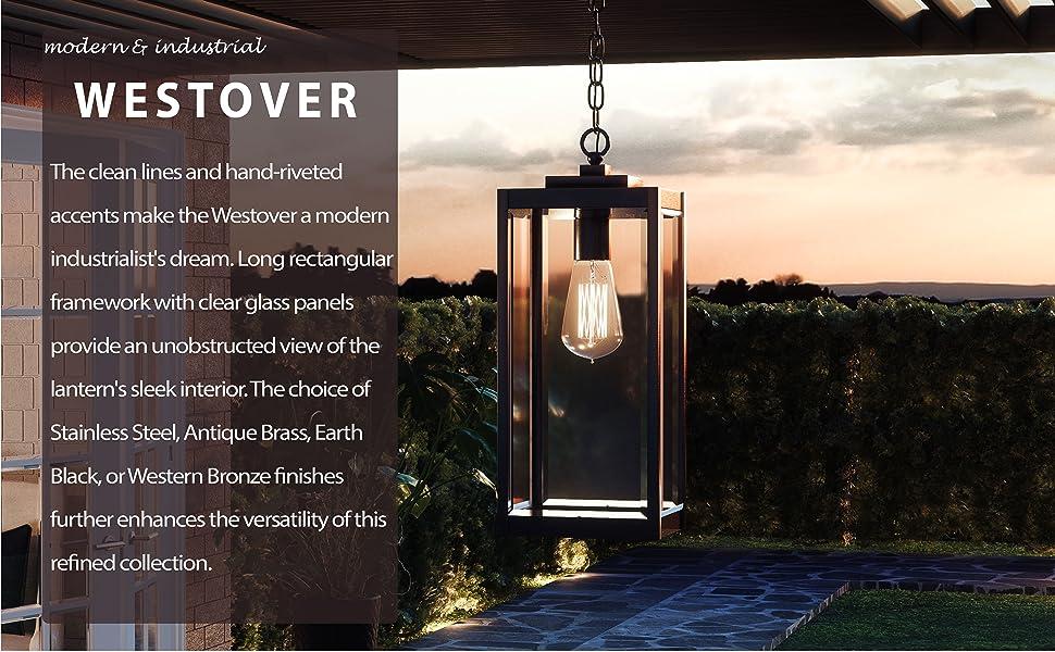 quoizel westover outdoor, porch lighting, patio lighting, portico lighting, post lantern, wall light