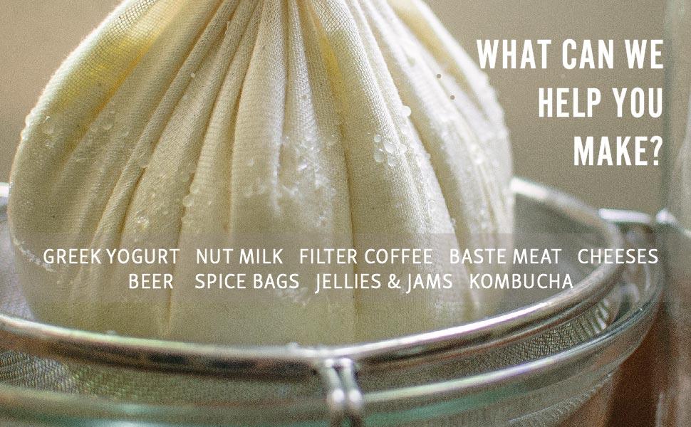 boquet garni spice bags filter cold brew coffee pudding cloth jelly bag hop beer brew greek yogurt