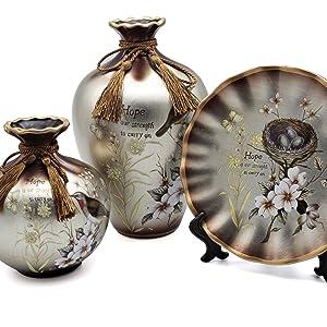 vase set ash shilver
