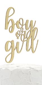 gold boy or girl cake topper