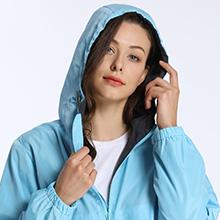 4-Women windbreaker rain jakcet 6287