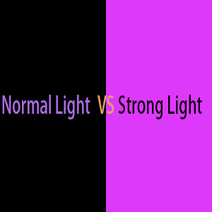normal color and strong color in different
