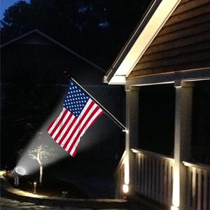 Flag pole Light solar