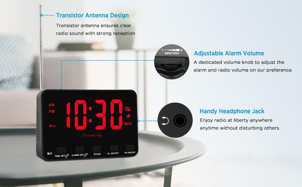 transistor FM clock radio