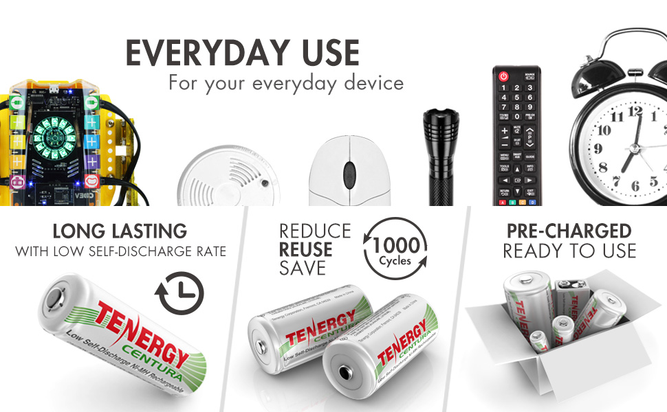 Rechargeable AA AAA batteries for every day use and electronic devices