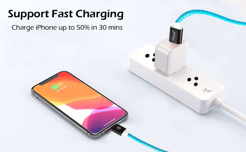 USB Charging Cable, 3 in 1 Charging Cable, Phone Charging Cable, USB-A to USB-C, Fast Charging Cable