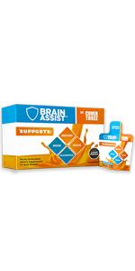 cover, three, brain assist, head, brain, vitamin, health, focus, concentration