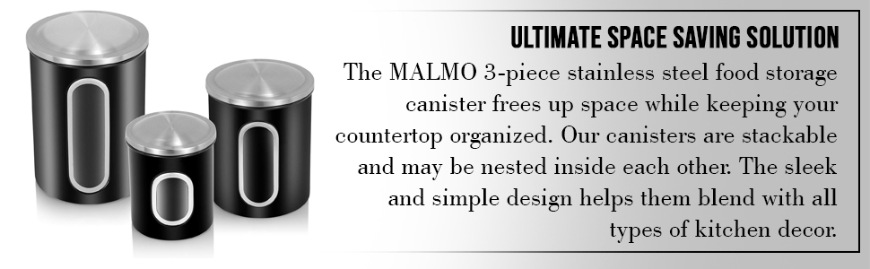 Canister set 3 pieces