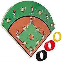 Hook-A-Hit board with 10 rings next to it