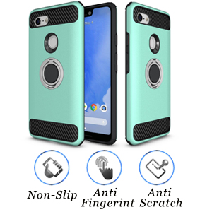 Newseego Compatible Google Pixel 3 Case Armor Dual Layer 2 in 1 and Finger Ring Holder Kickstand Fit Magnetic Car Mount for Google Pixel 3-Green 4351663840