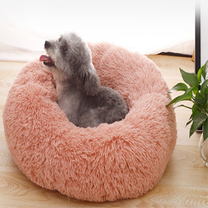 soft cat bed pink