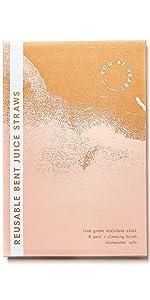 Reusable Bent Juice Straws