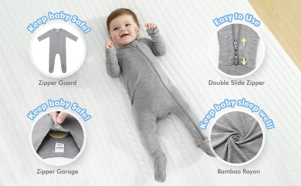 baby bamboo rayon footie