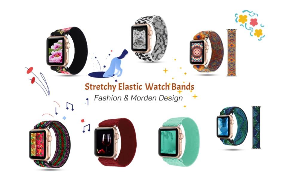 stretchy elastic watch band