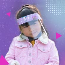 Sun-staches Unicorn Kids Face Shield for Kids Child Face Shield Clear Face Shield Anti Fog Face Shield with Elastic Band /& Foam Unicorn Reusable Face Shield Kids Kids Ages 3-12