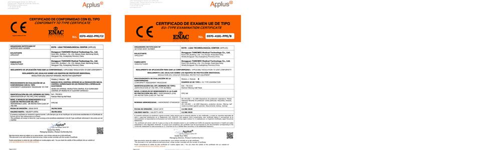 masques FFP2 norme EN149 certificat CE