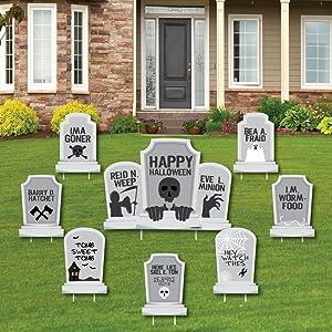 Graveyard Tombstones Halloween Party Yard Sign Set