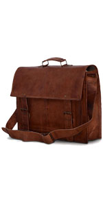 16 inch Leather Laptop Bag