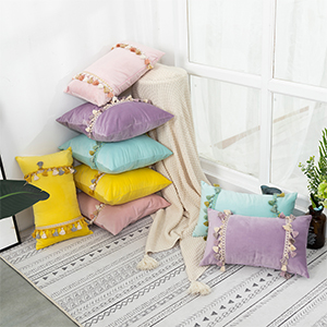 home decor bed cover pillowcase with zipper winter warm pillow farmhouse cases chair couch sofa