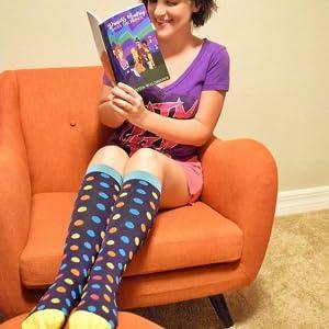 colorful dots compression socks