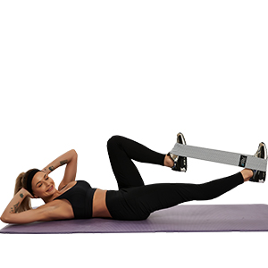 Supine and kick with resistance bands